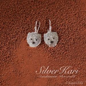 westie, earrings
